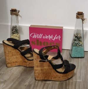 SODA CORK WEDGE SANDALS